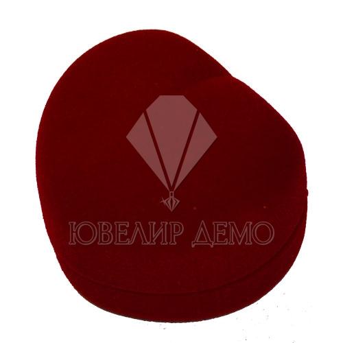 Футляр «сердце» бордовый, для подвесок.