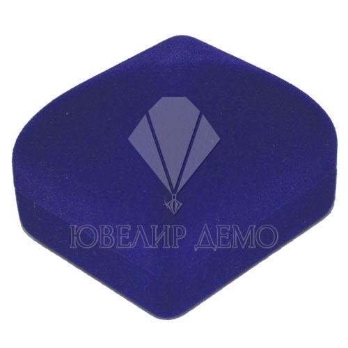 Футляр «квадрат» синий для серьг Ювелир Демо
