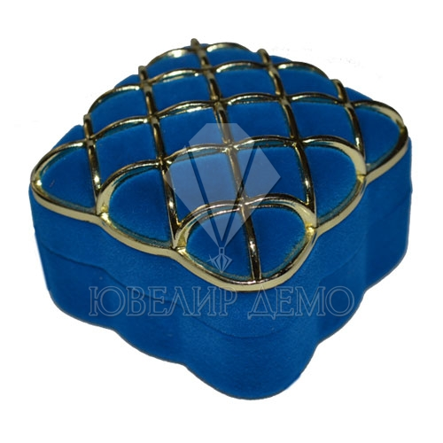 Футляр «сеточка» синий внутри синий универсальная прорезь Ювелир Демо