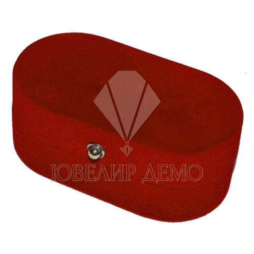 Футляр «овал для 2-х колец» красный внутри красный для двух колец Ювелир Демо