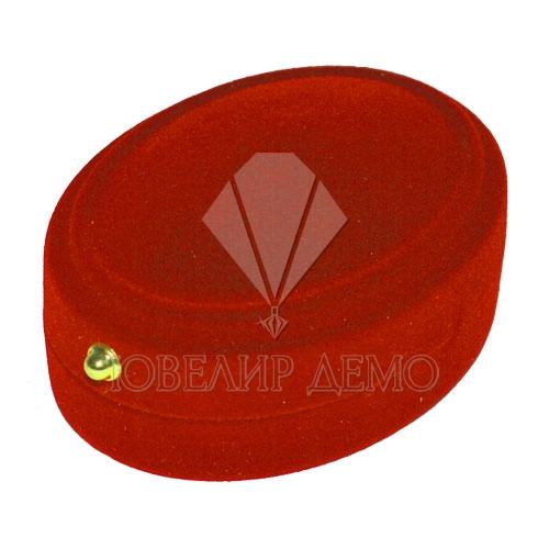 Футляр «овал» красный внутри красный для комплекта Ювелир Демо