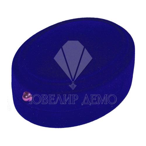 Футляр «овал» синий внутри синий для комплекта Ювелир Демо