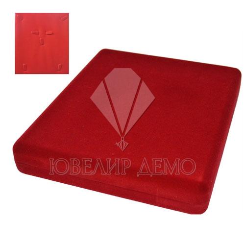 Футляр «квадрат» красный, внутри красный, для комплекта.