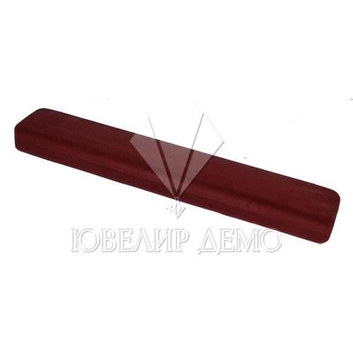 Футляр «пенал» бордовый, для цепочки.