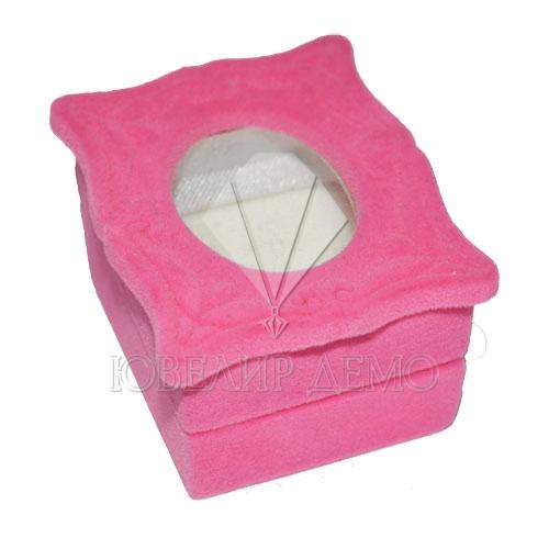 Футляр «зеркало» розовый, универсальная прорезь.
