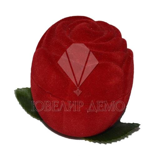 Футляр «роза» красный универсальная прорезь Ювелир Демо