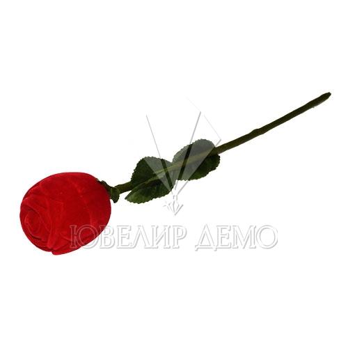 Футляр «роза на стебле» красный универсальная прорезь Ювелир Демо