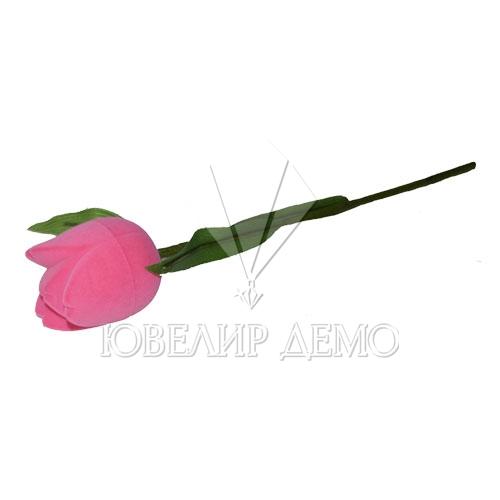 Футляр «тюльпан на стебле» розовый, универсальная прорезь.