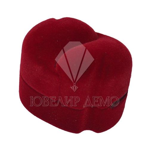 Футляр «два сердца» красный, универсальная прорезь.