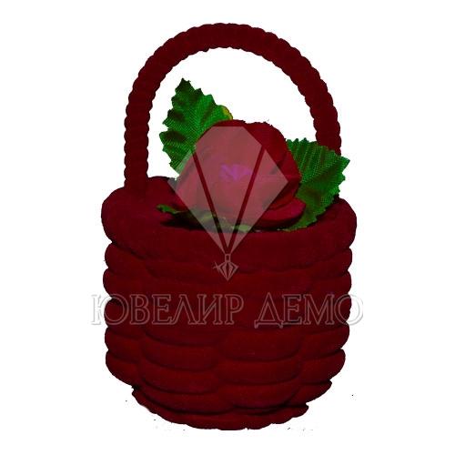 Футляр «корзинка» бордовый универсальная прорезь