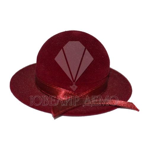 Футляр «шляпа» бордовый, универсальная прорезь.