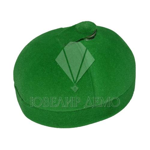Футляр «кружок на кнопке» зеленый, универсальная прорезь.