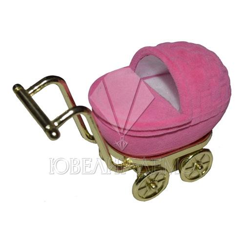Футляр «коляска» розовый универсальная прорезь