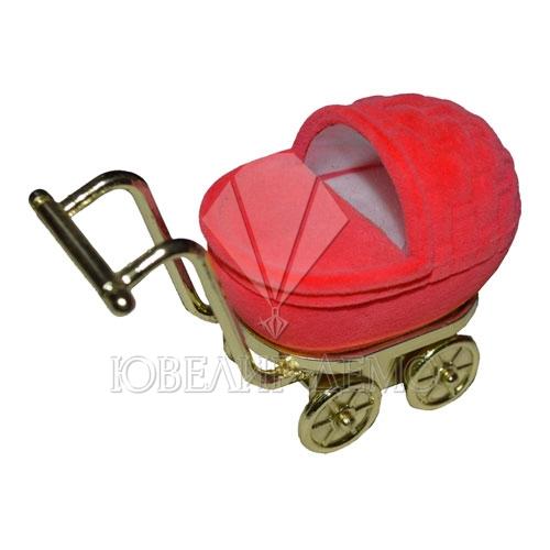 Футляр «коляска» красный универсальная прорезь