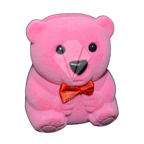 Футляр «медвежонок» розовый универсальная прорезь