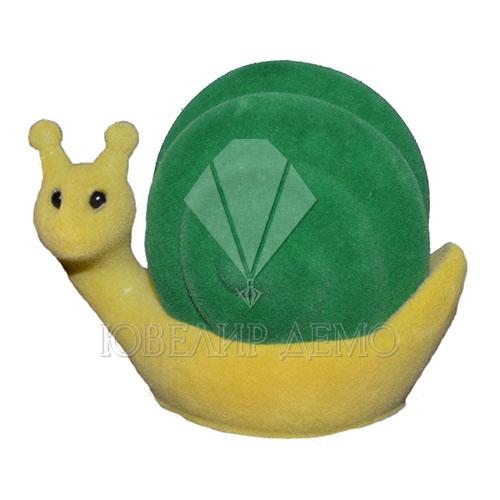 Футляр «улитка» желто-зеленый универсальная прорезь