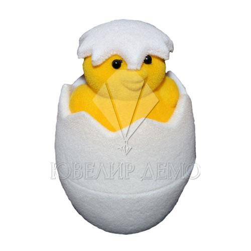 Футляр «цыплёнок» бело-желтый универсальная прорезь