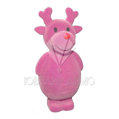 Футляр «олень» розовый универсальная прорезь