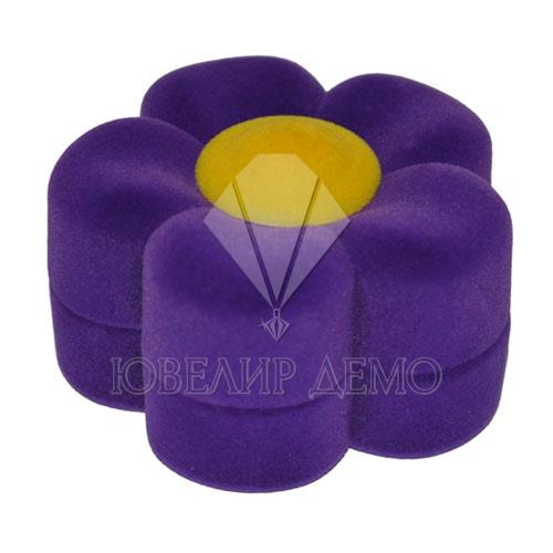 Футляр «цветочек» фиолетовый универсальная прорезь
