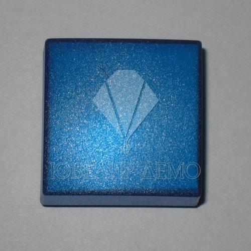 Футляр пластиковый для серьг синий