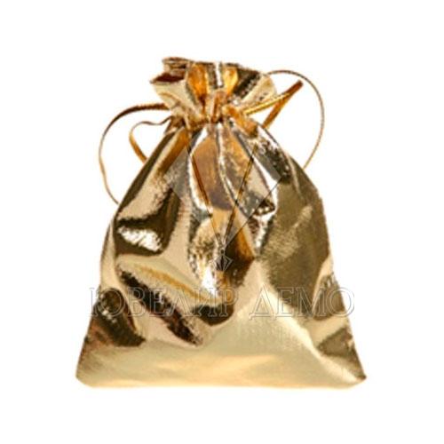 Мешок золотой 5х7 см фото