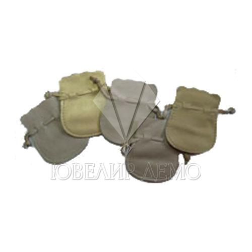 Мешок кожаный цветной (плоский) 6х7 см