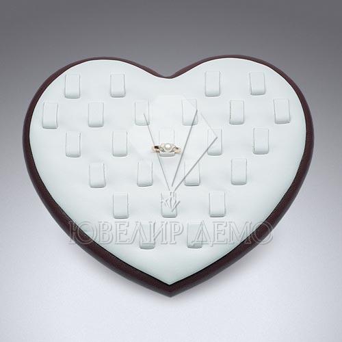 Подставка ювелирная «сердце» под кольца Ювелир Демо