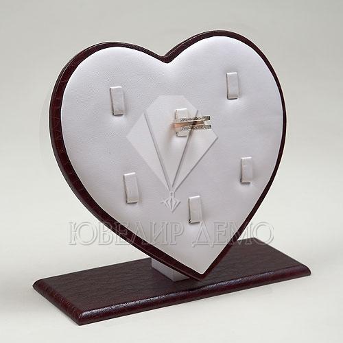 Подставка под кольца «Сердце» (185x70x170)