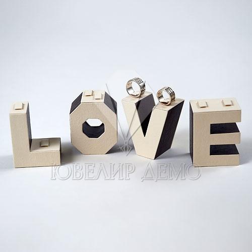 Подставка под кольца «LOVE» (230x40x75)