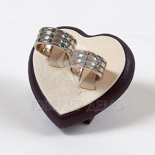 Подставка под 2 кольца «сердце» (65x55x40)