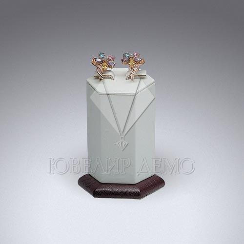 Сота ювелирная шестигранная на подставке одинарная под серьги Ювелир Демо