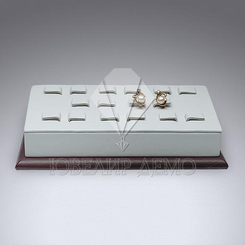 Подставка ювелирная под серьги прямоугольная наклонная Ювелир Демо