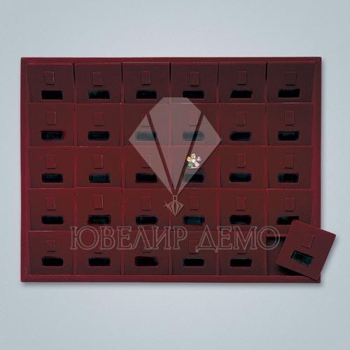 Планшет ювелирный Ювелир Демо квадраты с окошком под кольца