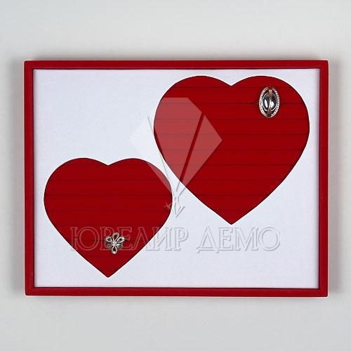 Планшет ювелирный «Два сердца» (310х240х35)