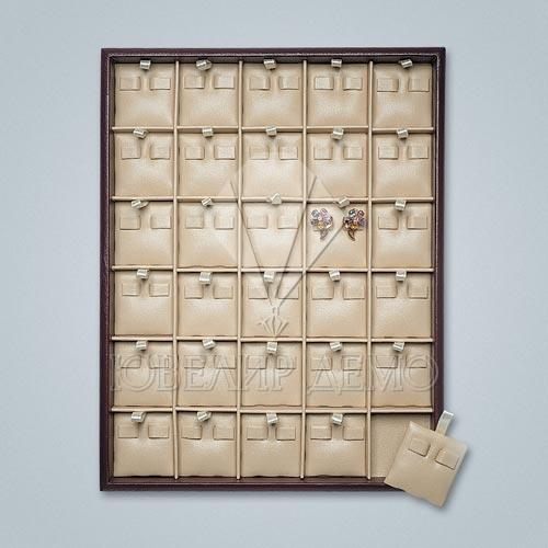 Планшет ювелирный квадраты под серьги Ювелир Демо